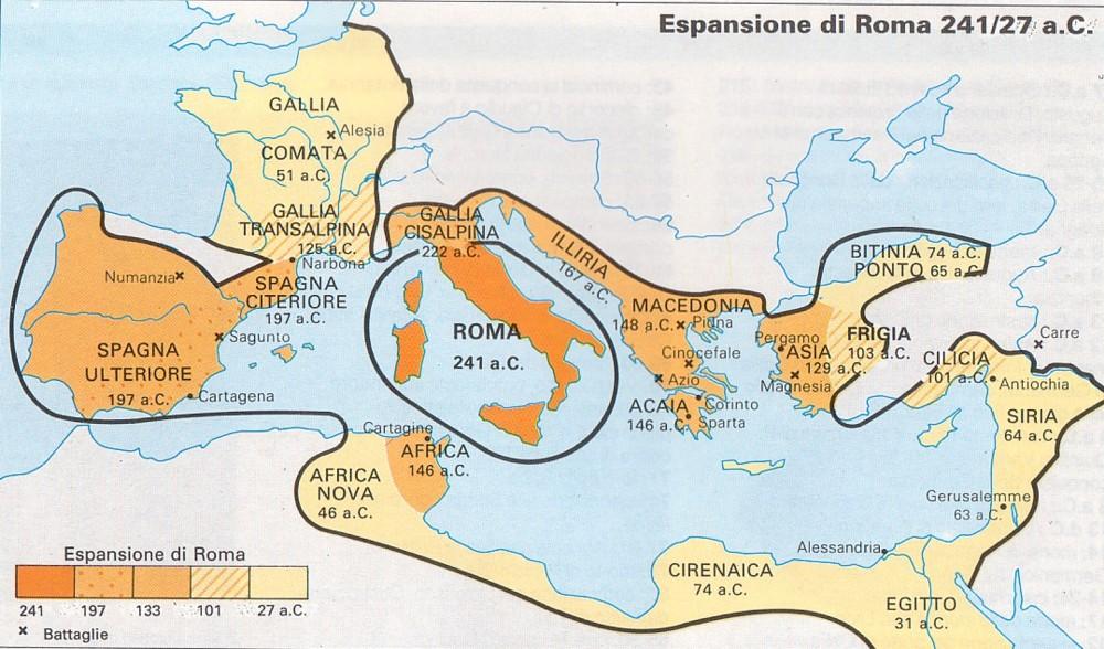 Cartina Storica Mediterraneo.I Greci