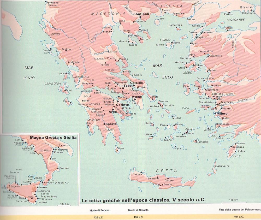 Mappa Muta Grecia Antica Nome